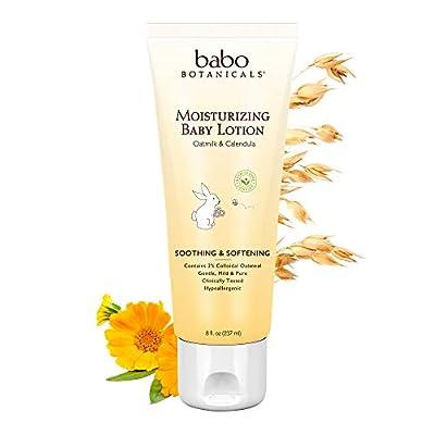 Babo Botanicals Moisturizing Baby Lotion, Non-Greasy, Hypoallergenic, , Multi, Oatmilk Calendula, 8 Fl Oz by Babo Botanicals