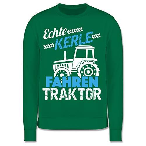 Shirtracer Fahrzeuge Kind - Echte Kerle Fahren Traktor - 116 (5/6 Jahre) - Grün - Pullover 92 Jungen - JH030K - Kinder Pullover