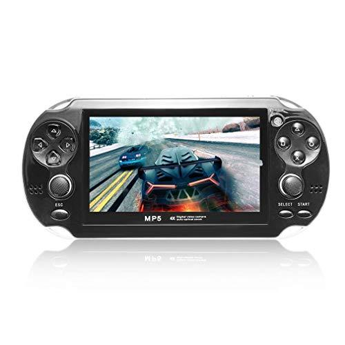 Kitechildhood - Consola de Juegos de Pantalla de 4,3 Pulgadas, 8 GB, sin Memoria, Juego MP5 con cámara, Color Negro