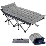 Slsy Folding Camping Cot, Folding cot Camping Cot for Adults Portable Folding Outdoor Cot with Carry Bags for Outdoor Travel Camp Beach Vacation