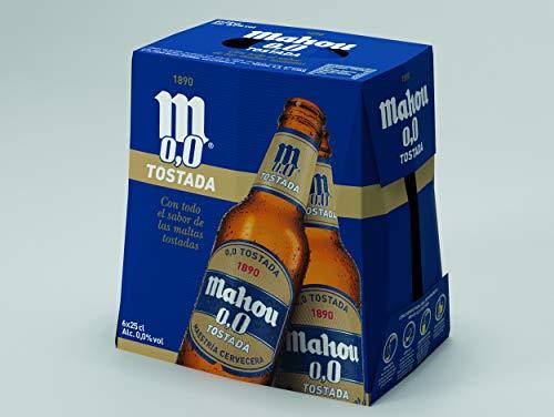 Mahou - 0,0 Tostada - Cerveza, 6 x 0.25L