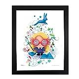 Harry Potter Sleek, Modern, Minimalist Framed Wall Art Luna Lovegood Water Color MightyPrint NOT MADE OF PAPER for Kid Baby Nursery Dorm By Trend Setters Ltd.