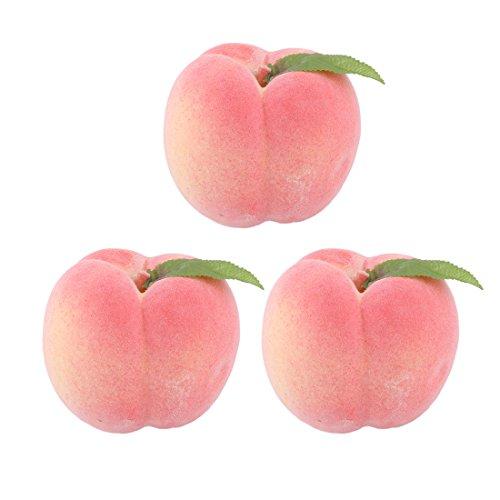 Sourcingmap® 3Stk. Dekoration Haushalt Büro Schaum künstliches Obst Pfirsich Schimmel Rosa DE de