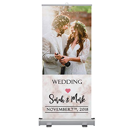 Board, Event Decorations Backdrops, Home Garden Indoor Outdoor Decorations, Roll up Standee, Wedding Party Backdrop Decorations Cut Outs, Customized Backdrop Standee, Comes with Kit Bag