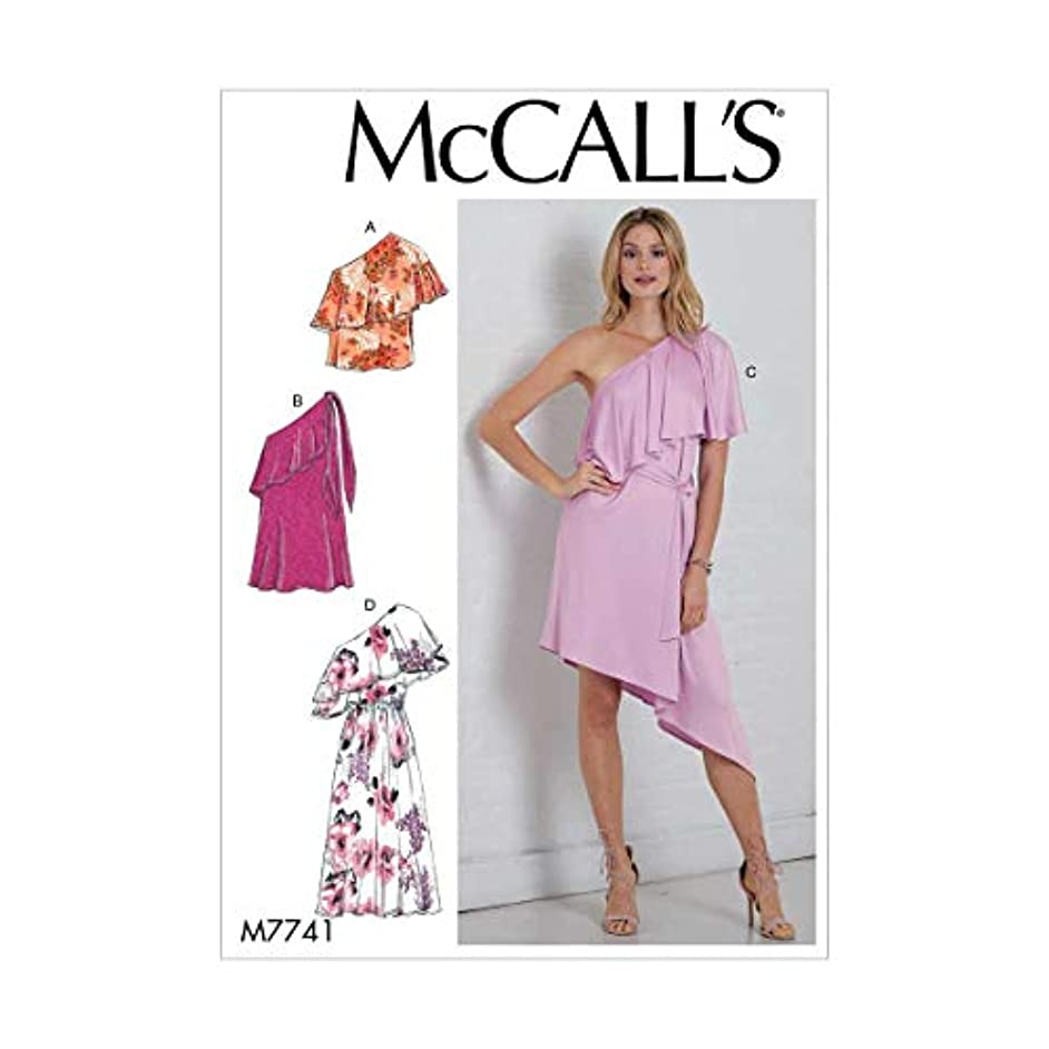 McCall's Patterns M7741A50 Misses' Top, Dresses and Belt, A5 (6-8-10-12-14)