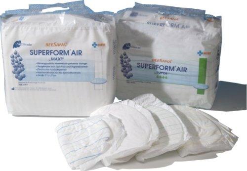 Meditrade Superform Air Plus Beesana - 150 atmungsaktive Inkontinenz Vorlagen für Erwachsene blau 30 x 63 cm