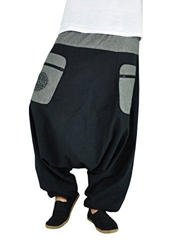 virblatt Pantalones Bombachos Mujer Chandal Pantalones cagados pantalón Harem Mujer – Stampfgewand SMgy