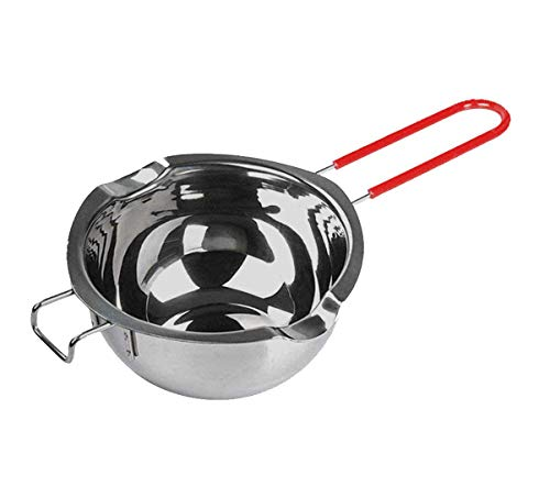 700ML Double Boiler Pot with Heat Resistant Handle, 2Pack Large Capacity Stainless Steel Double Boiler for Melting Chocolate, Candy and Candle Making