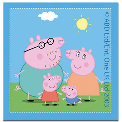 Parches - Peppa Pig family pig - azul - 6,7 x 7,0 cm - Entertainment One © termoadhesivos bordados aplique para ropa