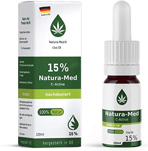 Natura-Med15% C-Active Natur Öl Tropfen 10ml |100% reines Naturprodukt•vegan•EU zertifizierter Anbau•hochdosiert und rein – made in DE - Prozent (10ml) (10ml)