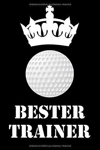 Bester Trainer: Golf Notizbuch | Für Taktik, Strategie & Training | 105 punktierte Seiten | Format ca. A5 |