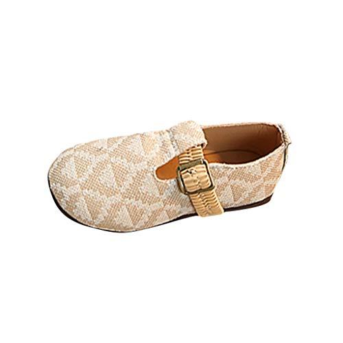 echo4745 Chaussures à la Mode pour Filles avec Toile, Sandales à Bande élastique