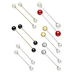 Idea Regalo - OYEFLY 12 spille da donna per maglioni, sciarpe, con cristalli e perle, per matrimonio, bouquet da sposa, accessorio formale con strass, per boutonniere (stile 3)