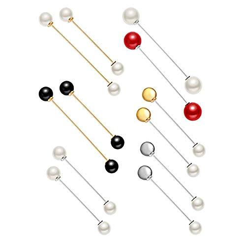 OYEFLY - 12 spille da donna, con cristalli e perle, per matrimonio, stile 3