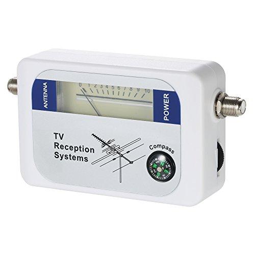 KKmoon Détecteur de Signal d'antenne TV, Détecteur de Signal Satellite Mètre de Signal Satellite Mini Compteur d'antenne TV Détecteur de Signal Satellite avec Boussole
