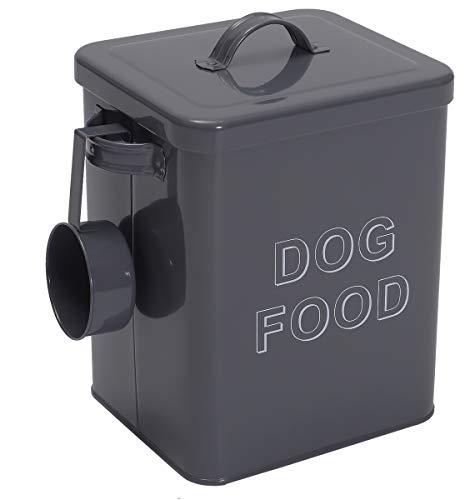 Morezi dog food container,Futtertonnen für Trockenfutter,futterbox Katze,hundefutterdose,mit luftdicht Deckel und Schaufel-Grau