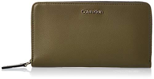 Calvin Klein Damen Ck Must Psp20 Lrg Z/a XL Geldbörse, Grün (Drk Olive), 2x11x20 Centimeters