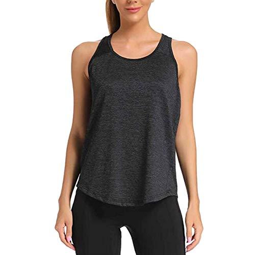 Metyere Round Neck Sleeveless Quick Dry Tank Top Women Top Casual Sports Yoga Fitness Vest Hidden belly