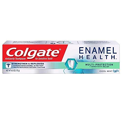 Colgate Enamel Health Multi-Protection + Sensitivity Relief Gel, Cool Mint, 6.0 oz