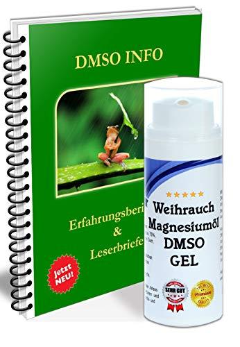 ORIGINAL DMSO GEL 75% / - Salbe mit Weihrauch Auszug + Magnesiumöl Dimethylsulfoxid 99,9% bequeme Anwendung (50ml)