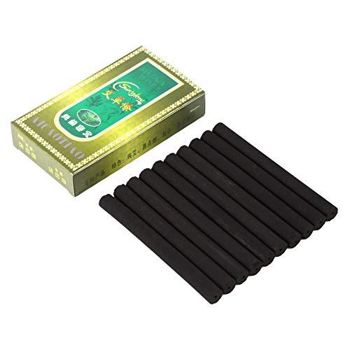 Zetiling Smokeless Moxa Roll, 10 Stück A Box Smokeless Moxa Rolls Stick Körperteil Heilung Hilfe