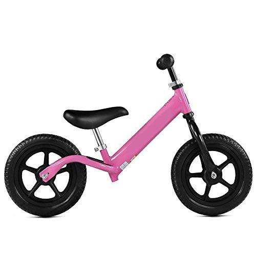 LHQ-HQ Bicicletas niños Equilibrio niños y bicicleta de equilibrio niños pequeños con neumáticos de asiento ajustable sin pedal Aire libre antideslizante manillar de zancada entrenamiento deportivo Ca