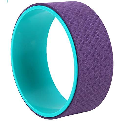 Dharma Ejercicio Rueda Rueda DE Yoga TPE Yoga Rueda Adecuada para Productos DE Yoga DE CASA Y GIMNICO Anti-Skid Pilates Estable Acolchado (Color : Purple, Size : 13x33cm)