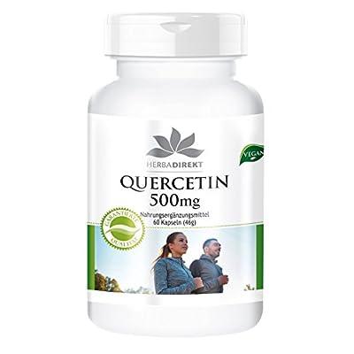 Herbadirekt Quercetin 500mg highly dosed, vegan, 60 capsules for 2 months from Warnke Gesundheitsprodukte GmbH & Co. KG