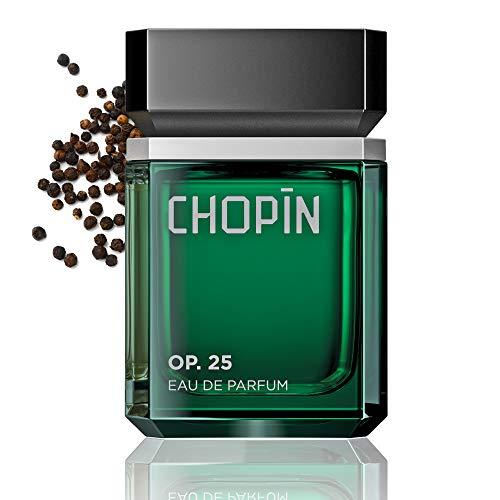 CHOPIN Op.25 Parfüm für Männer, 100 ml, Eau de Parfum, Dynamischer Herrenduft mit Zeitlosem Schwarzem Pfeffer, Jasmin, Holziger Duft