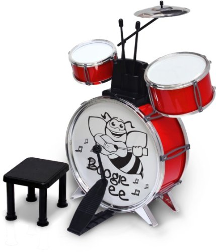 Bontempi JD4530/V Boogy Bee Schlagzeug mit Hocker