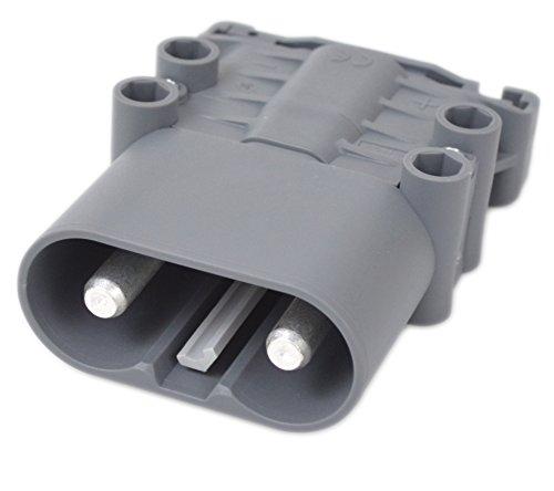 Batterieladestecker 320A Stapler 12v Batterie 2 Hauptkontakte säurebeständig für Gabelstapler, Wohnmobil, Kehrgeräte Steckbuchse DC Steckverbinder Ladestecker Ladesteckverbinder