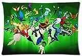 Hot Cartoon Ben 10 Ben Gwen Max Tennyson Fundas de almohada personalizadas de 20 x 30 pulgadas, dos lados Cool y cómoda funda de almohada