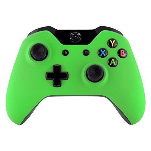 eXtremeRate Cover Custodia Copertura Frontale Anteriore Guscio Superiore Ricambio per Xbox One Standard Controller con/senza Porta per Jack da Cuffie 3,5mm(Verde)