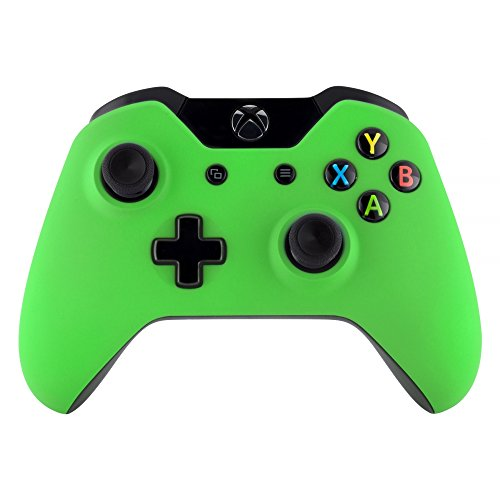 eXtremeRate Case für Standard Xbox One Controller,Hülle Gehäuse Matt Schutzhülle Cover Oberschale Faceplates Zubehör Set Schale für Xbox One Standard Controller(Grün)