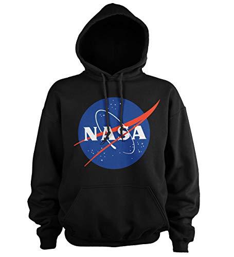 Nasa Offizielle Insignia Sweatshirt mit Kapuze, Schwarz XXXL