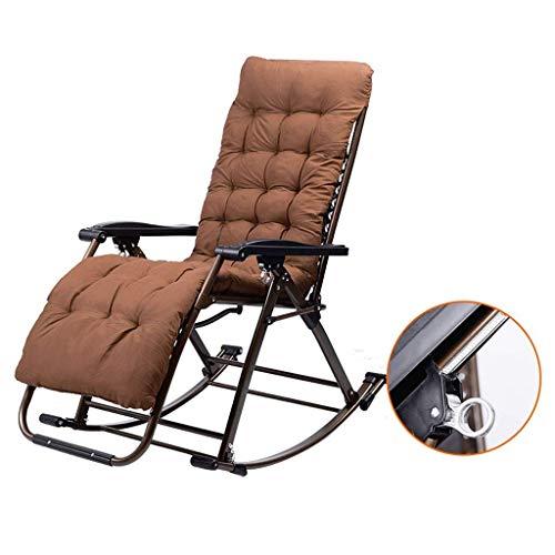 MAMINGBO Mecedora de jardín al Aire Libre for Adultos Relax Comfort |Silla Plegable de Tumbona Tumbonas de Gravedad Cero for Patio al Aire Libre Camping Playa