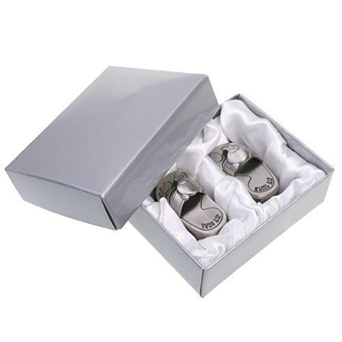 Silber Zahn Box, Baby Erste Zahn Und Andenken Box Set, Geschenk Für Taufe, Baby Dusche Und Geburtstagsfeier - Hausschuhe