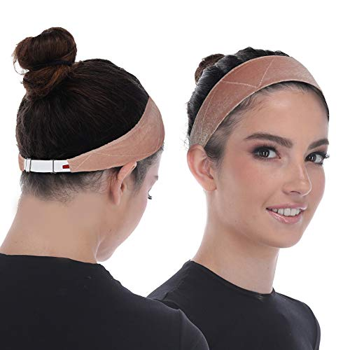 Wig Grip Band - Adjustable To Custom Fit Your Head - Ultimate Comfort - Non Slip Breathable Lightweight Velvet Material For All Day Wear! Keep Wig Comfortably Secured In Place - By Madison (Beige)