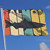BHGYT Graphic Outdoor/Home Demonstration Flagge Lachs im Vintage-Stil 100% Polyester Single Layer Flags 3 X 5