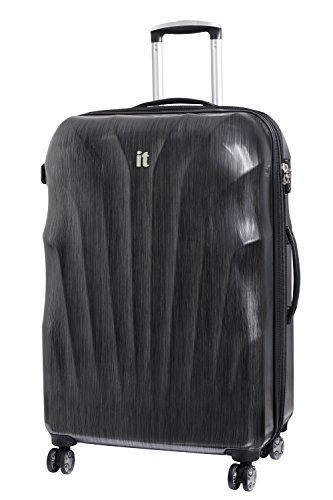 it luggage Momentum 8 Wheel Hard Shell Single Expander Suitcase Large with TSA lock Valigia, 80 cm, 144 liters, Grigio (Charcoal Grey/Black Brushed)