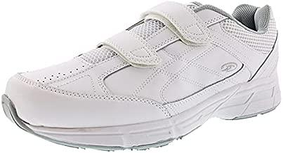 Dr. Scholl's - Men's Brisk Light Weight Dual Strap Sneaker, Wide Width (10 Wide, White Grey)