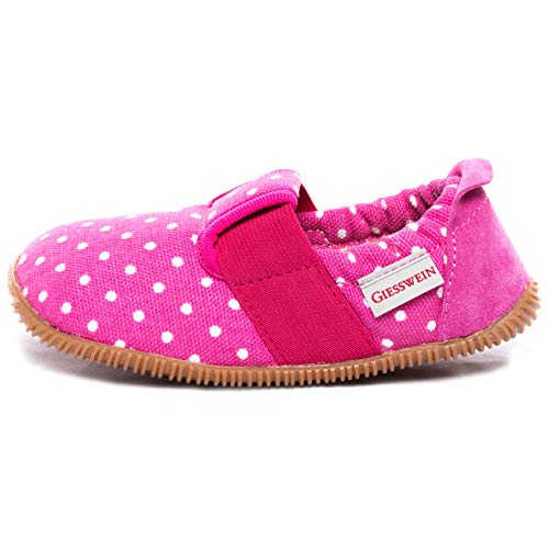 Giesswein Silz - Slim Fit, Pantofole basse bambina, Rosa (364 / himbeer), 34