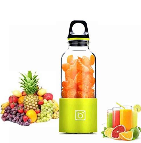 CSPFAIZA Tragbar Standmixer, Creative Blender Geeignet für Haus/Im Freien, Frisch Gepresst Orangen/Wassermelonensaft/Zitronensaft (Smart Switch),Green