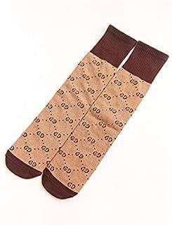Lovely Socks Children Cotton Socks Kids Spring and Summer Letter Pattern Mid Tube Socks(Green) Newborn Sock (Color : Khaki)