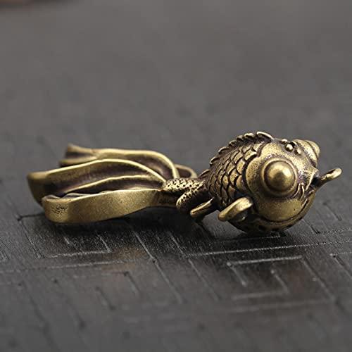 Ooopsieu Goldfish Llavero Colgante de Metal de Metal de latón llaveros/Anillos Bolsa Charm Key Holder Regalos Hechos a Mano
