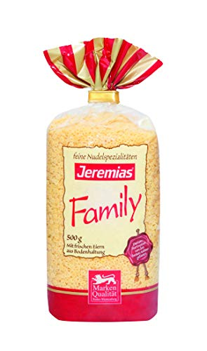 Jeremias Suppen-Sterne, Family Frischei-Nudeln, 4er Pack (4 x 500 g Beutel)