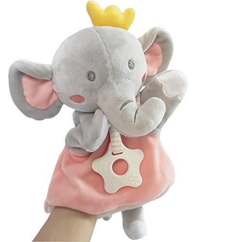 PHOOW Marionetas de Peluche Animal Lindo Marionetas de Mano, muñeca de Juguete de Felpa Suave marioneta del Guante Appease for Padres e Hijos Juegos de rol Educación Infantil (Elefante)