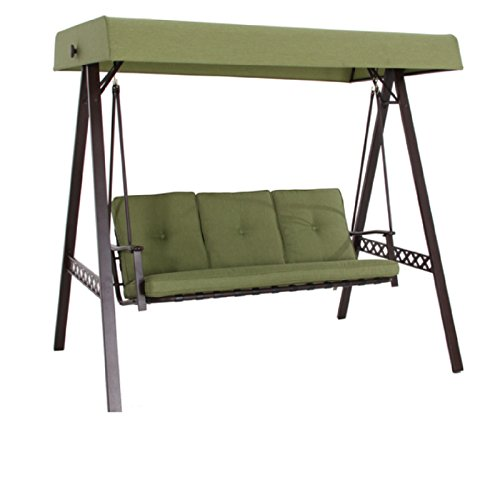 New Outdoor 3 Triple Seater Swing Glider Canopy Patio Deck Green