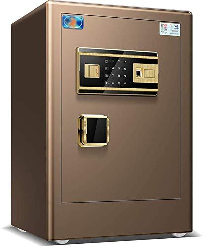 Caja Fuerte de Seguridad,40 x 37 x 60cm Reconocimiento de Huellas Dactilares Electrónica de Caja de Seguridad, Oficina de Hotel Joyas Comerciales Uso de Efectivo Almacenamiento,Negro,Black