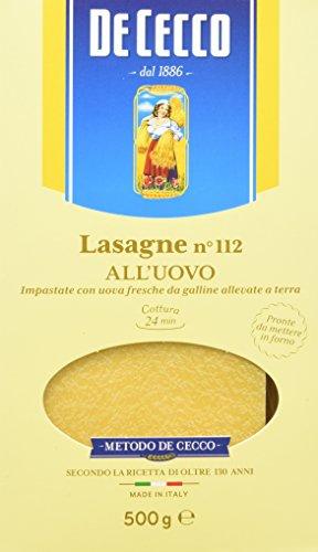De Cecco Lasagna Timballo Uovo - 6 pezzi da 500 g [3 kg]
